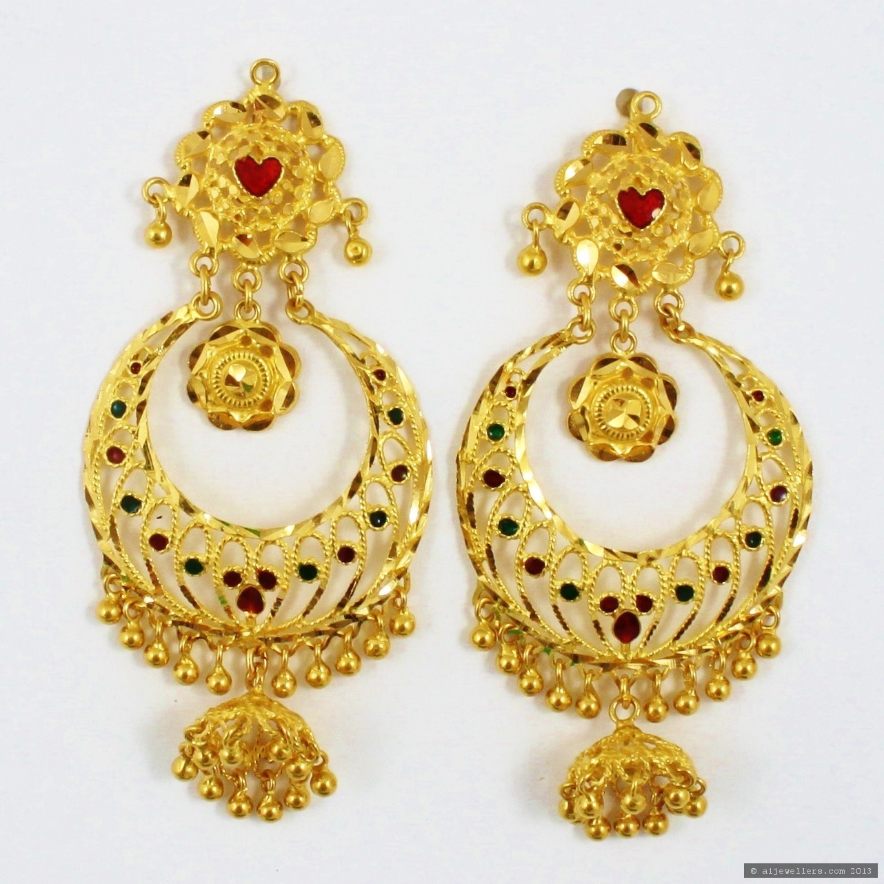 the gallery for gt indian jewellery earrings designs